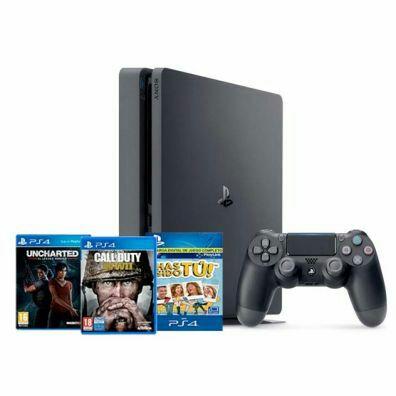 Pack Consola Playstation 4 Slim (500Gb) + Uncharted, CoD WWII y Has Sido Tú