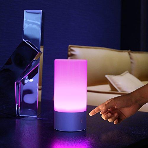 AUKEY Lámpara de mesa  LED RGB regulable con sensor táctil