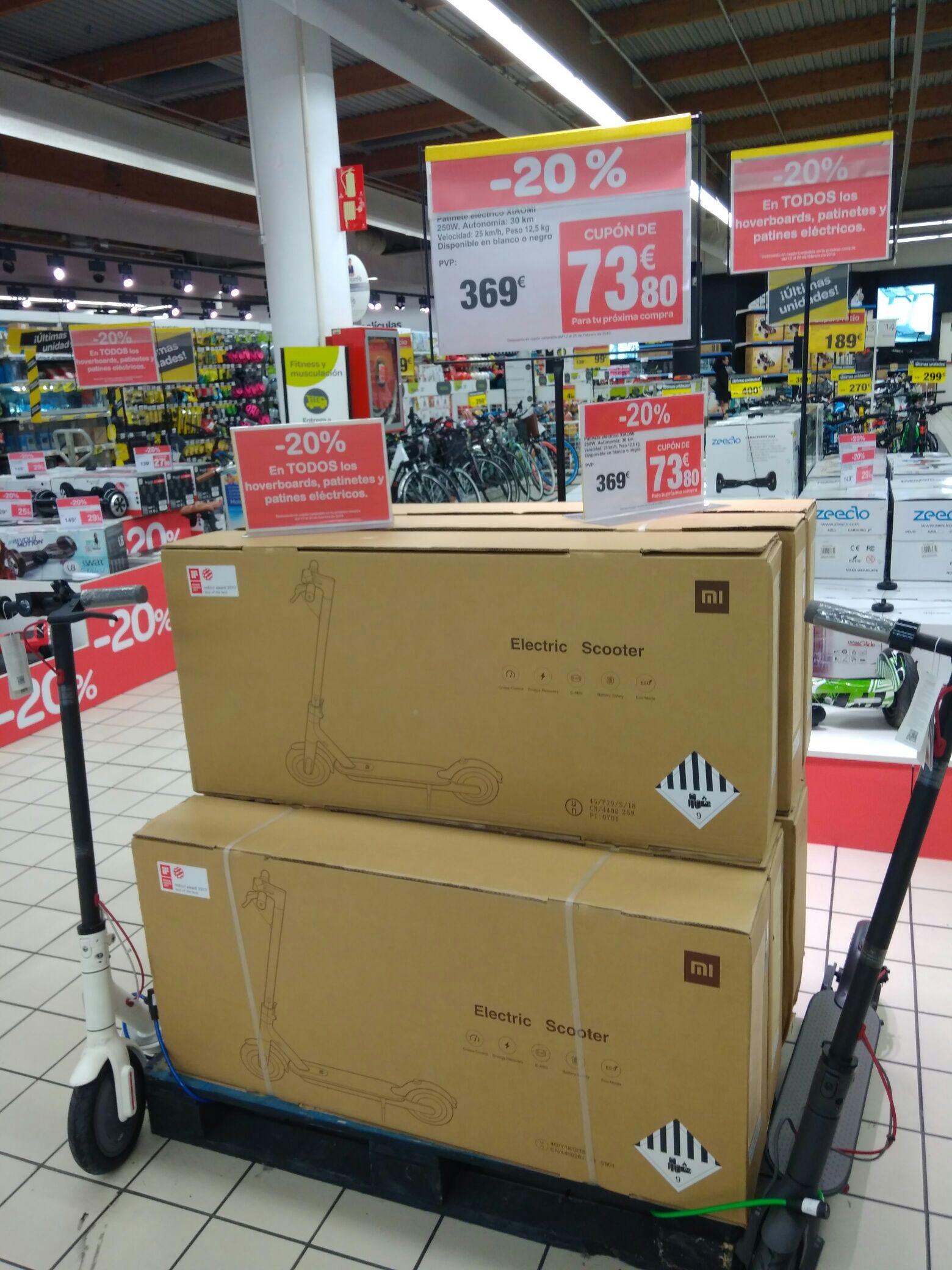 Patinete Xiaomi M365 en Carrefour (cheque ahorro)