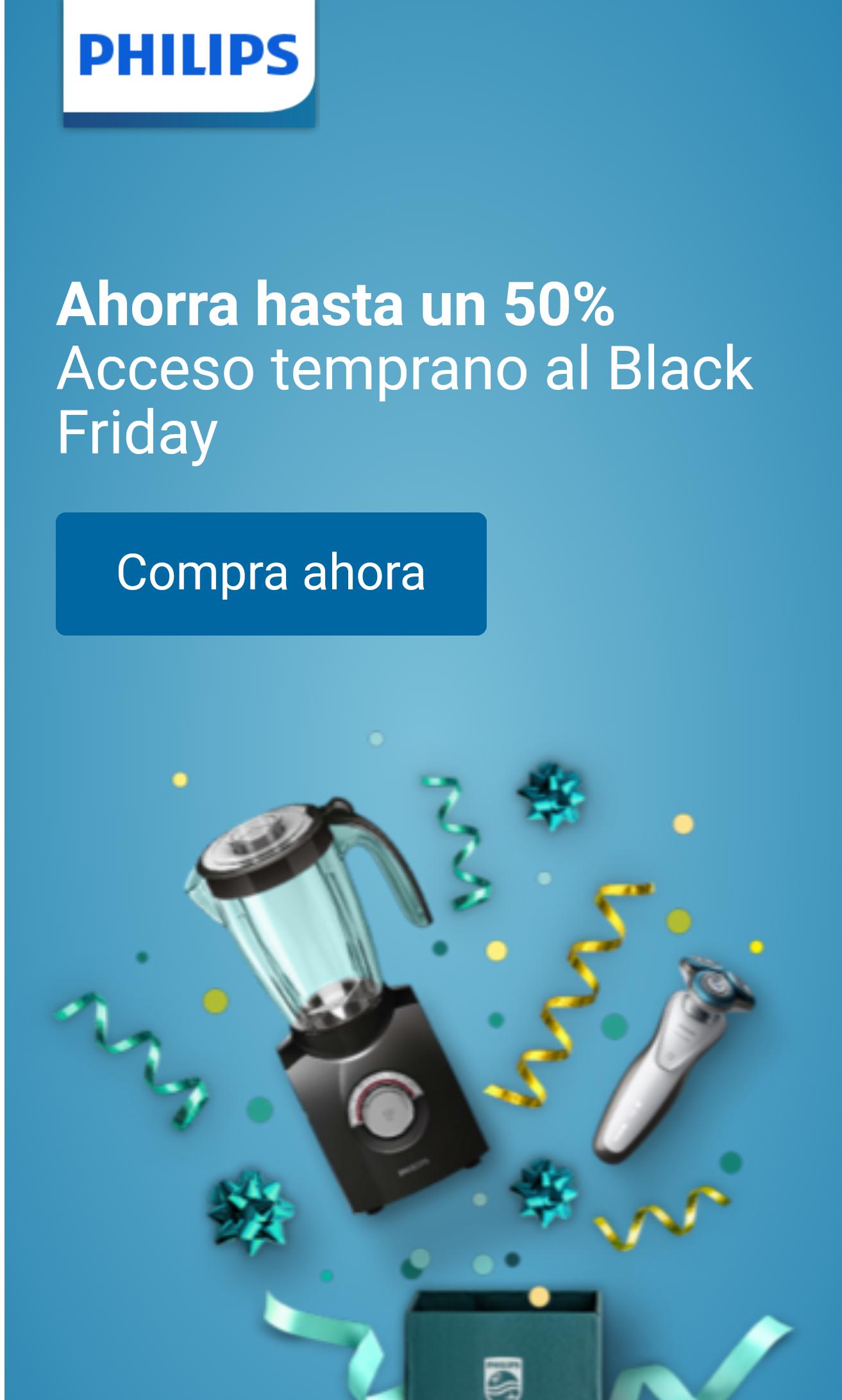 Hasta un 50% DESCUENTO Black fríday