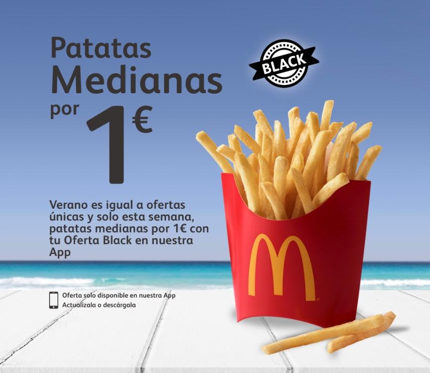 MC Donalds Patatas medianas 1€