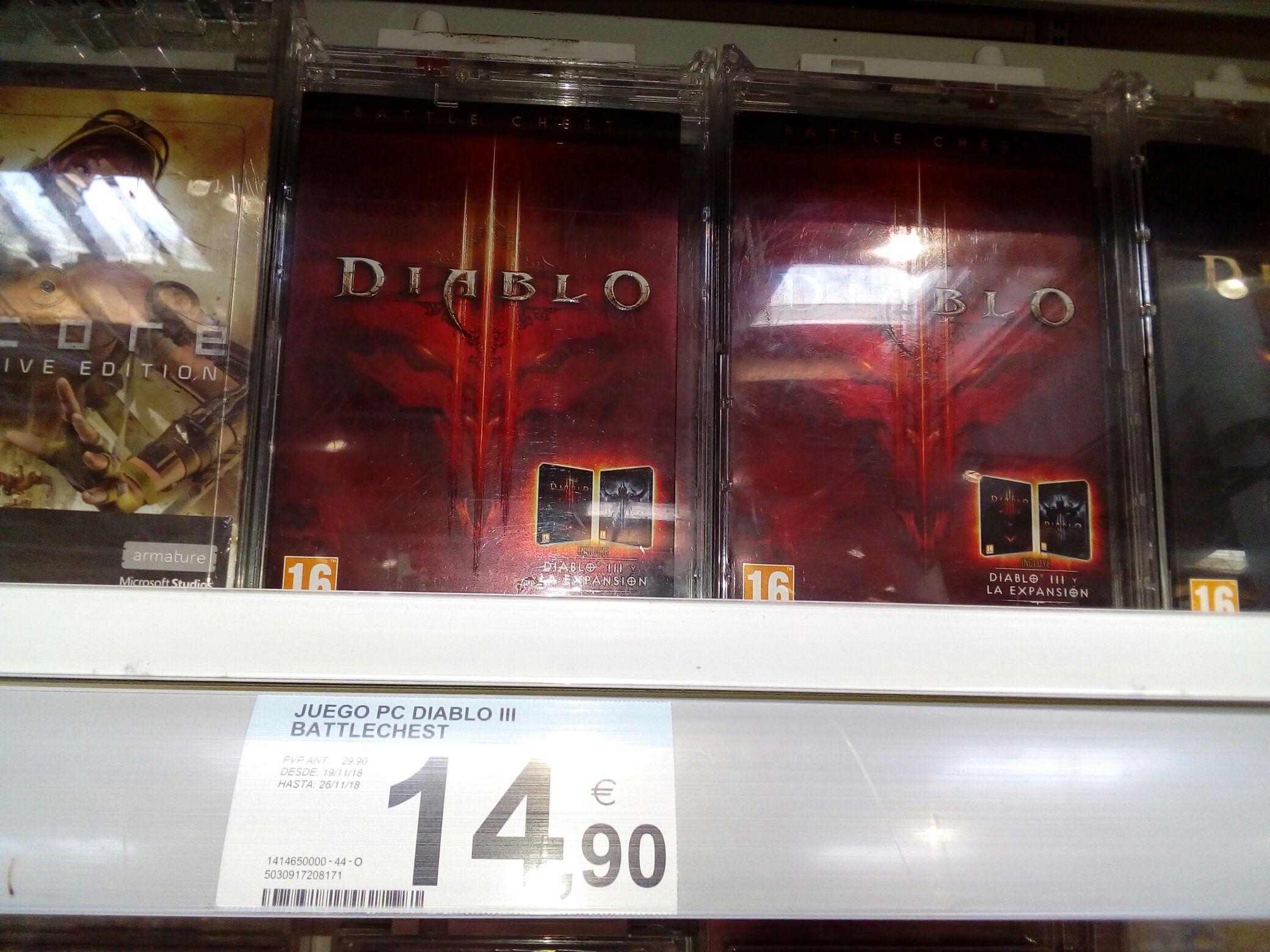 Diablo III + Reaper of Souls por 15 eurillos en Carrefour Finestrat