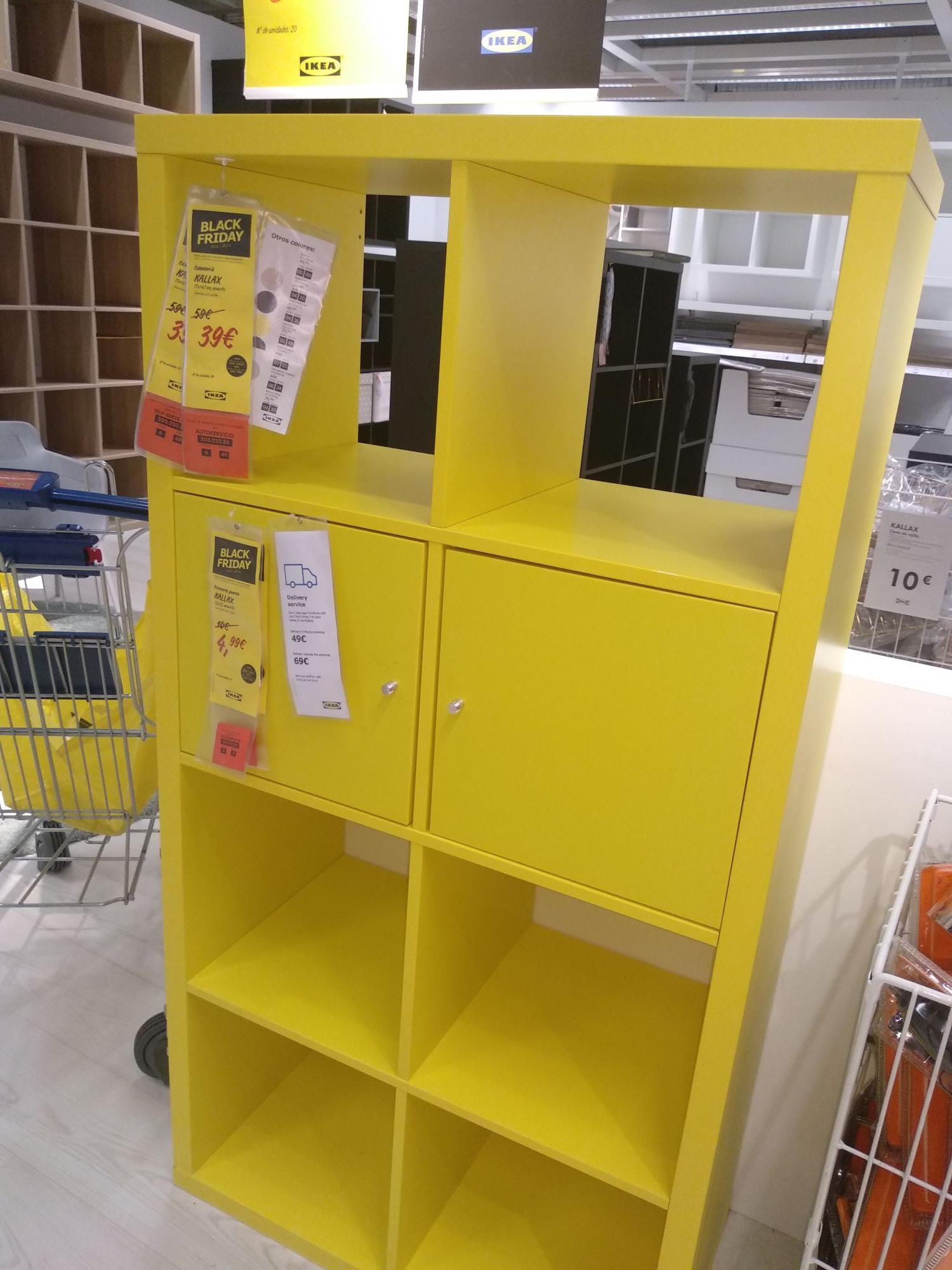 Estantería Kallax amarilla en Ikea