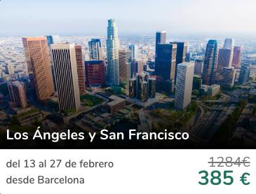 Vuelos a Los Ángeles + San Francisco por 385€