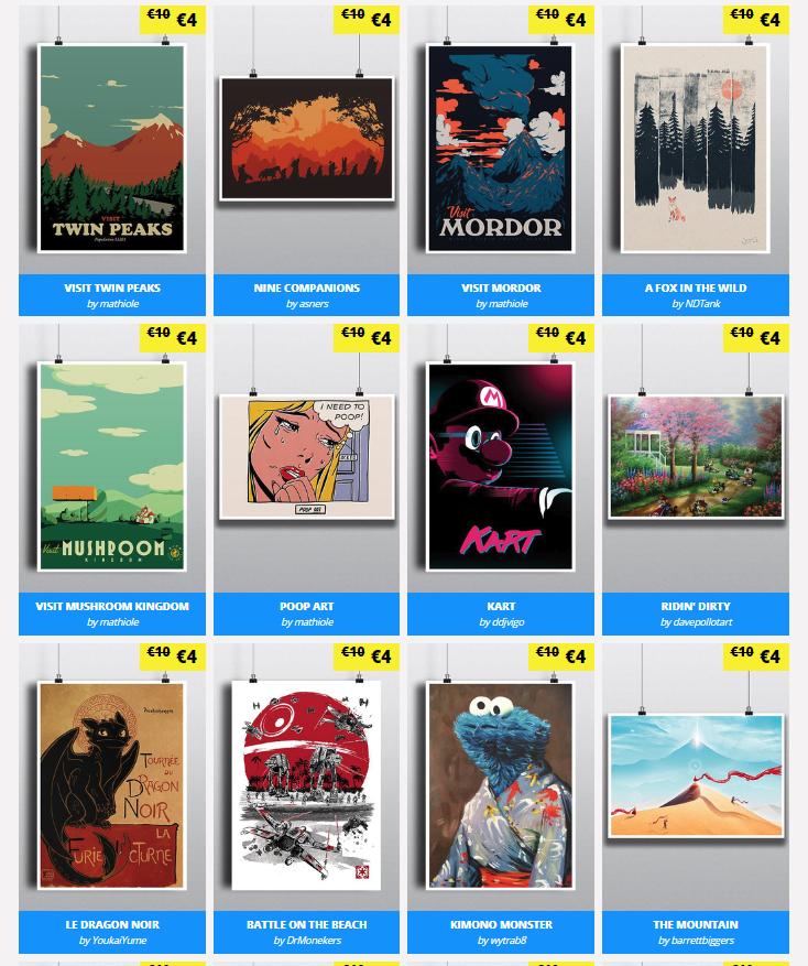 Posters Geek (más de 200 diseños) a solo 4€