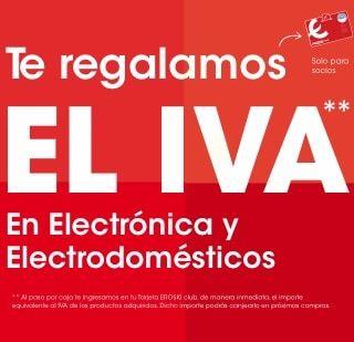 Descuento del IVA en electrónica y electrodomésticos en Eroski