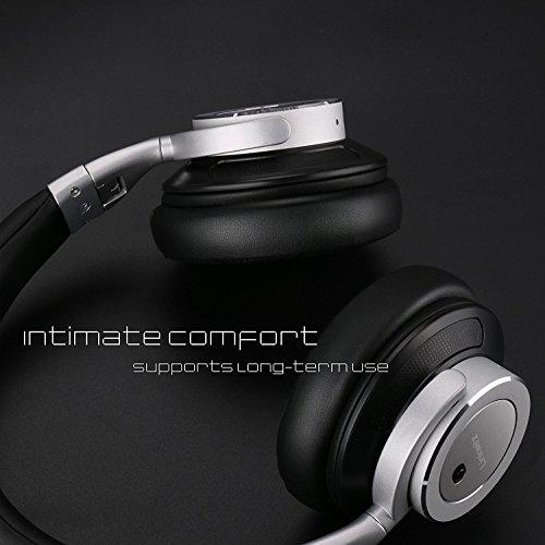 Auriculares Inalámbricos, LinkWitz Cascos Bluetooth Con Cancelación Activa del Ruido Incorporado Micro Con Sonido Estéreo Para Teléfonos/ PC /TV de Acero Mejorado(Negro)