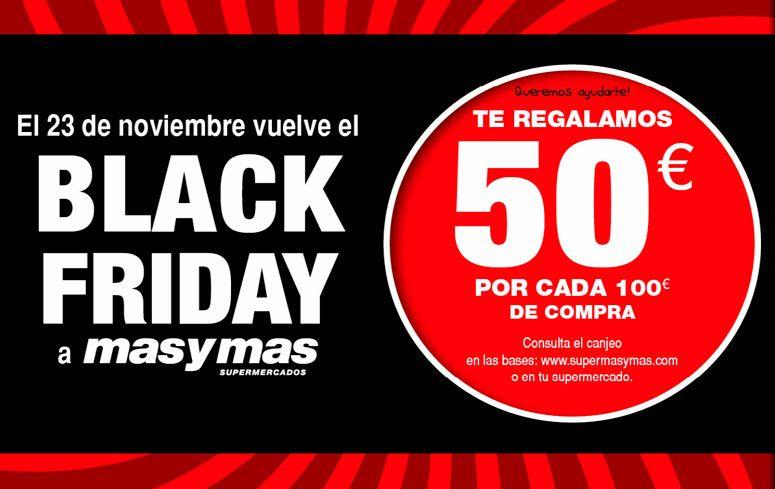 50 € de Regalo por 100 € de compra, Asturias y León (supermercados masymas)