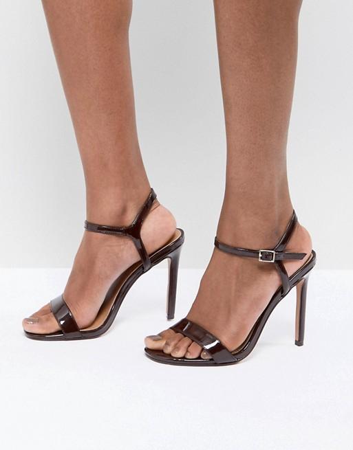 Sandalias con tacón y diseño minimalista HANDS DOWN de ASOS