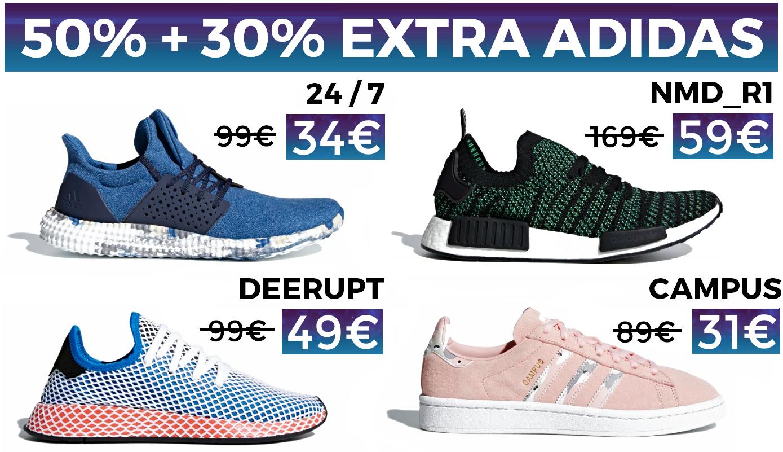 50% + 30% EXTRA + Envío GRATIS en ADIDAS