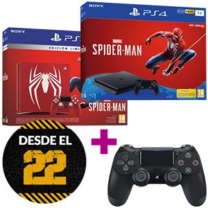 PS4 1TB ED. SPIDERMAN + SPIDERMAN + DS4 V2
