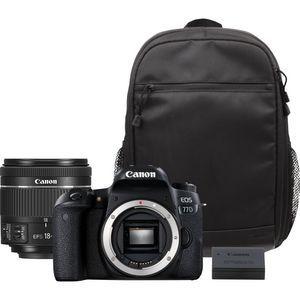 Canon EOS 77D+Objetivo EF 18-55mm IS STM+Mochila+Batería de repuesto