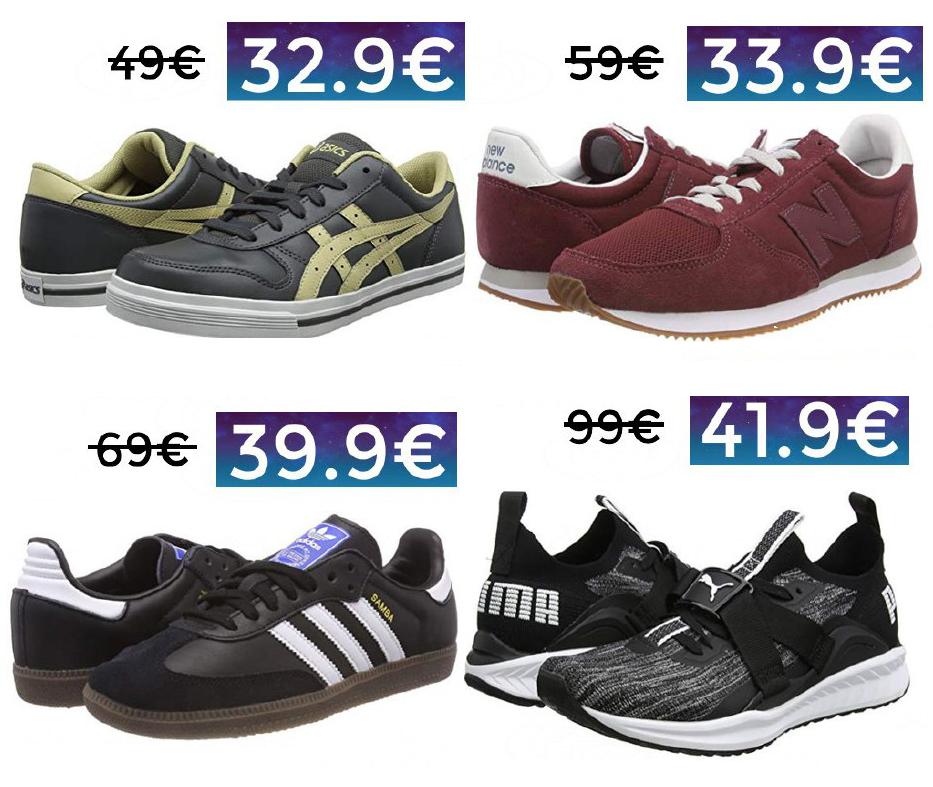 Ofertas de zapatillas en Amazon (Adidas Samba 39€, Asics Aaron 32€...)