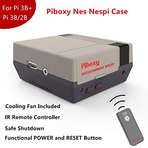 MakerFun - Funda para Piboxy NES con Ventilador y botón de reinicio