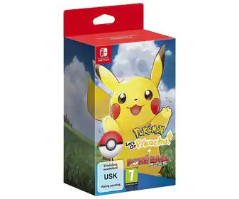 Pokemon Let's Go Pikachu + Pokeball