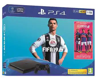 PSN 4 Slim 1 TB + Fifa 2019 y 14 días de PS plus gratis