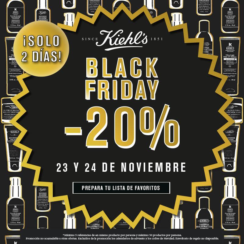 Black Friday en Kiehl's -20%