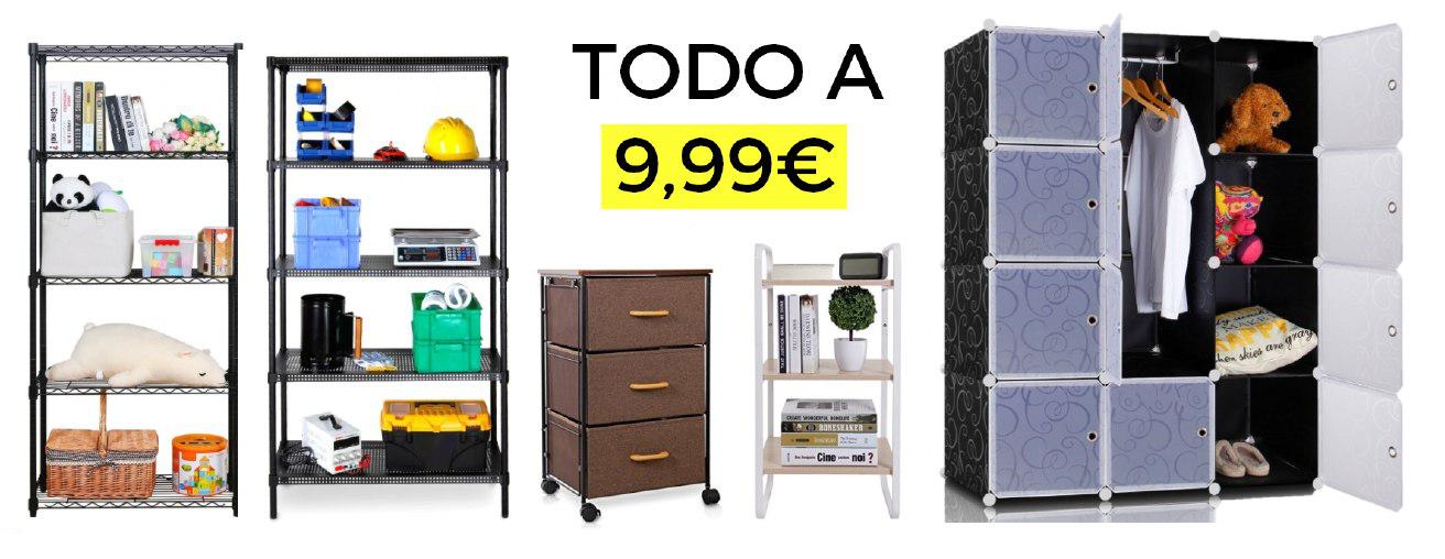 Estanterías y armarios por solo 9,99€