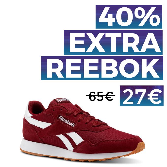 40% EXTRA en TODO Reebok