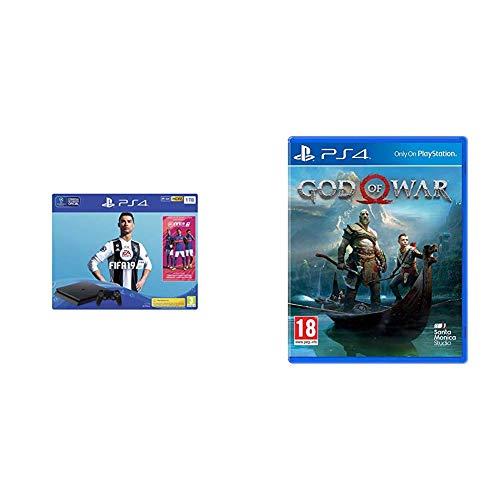 PlayStation 4 (PS4) - Consola 1 TB + FIFA 19 - Edición Estándar + God Of War - Edición Estándar