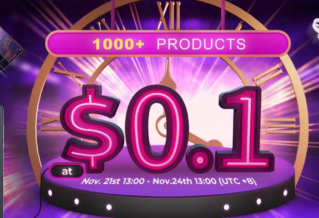 Banggood ventas flash a 0,1€