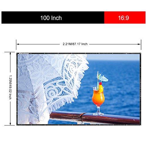 "Pantalla plegable para proyector 100"" PVC"