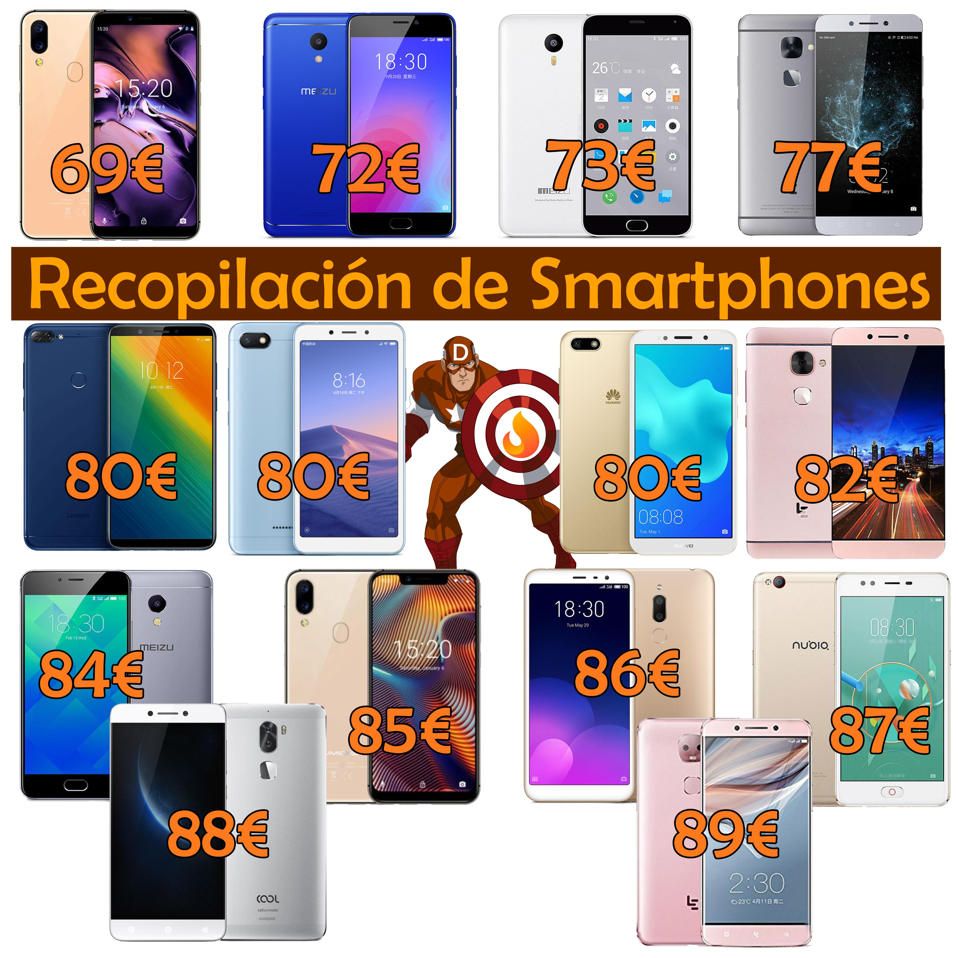 ¡Smartphones buenos y baratísimos a tutiplén! (desde 69€)