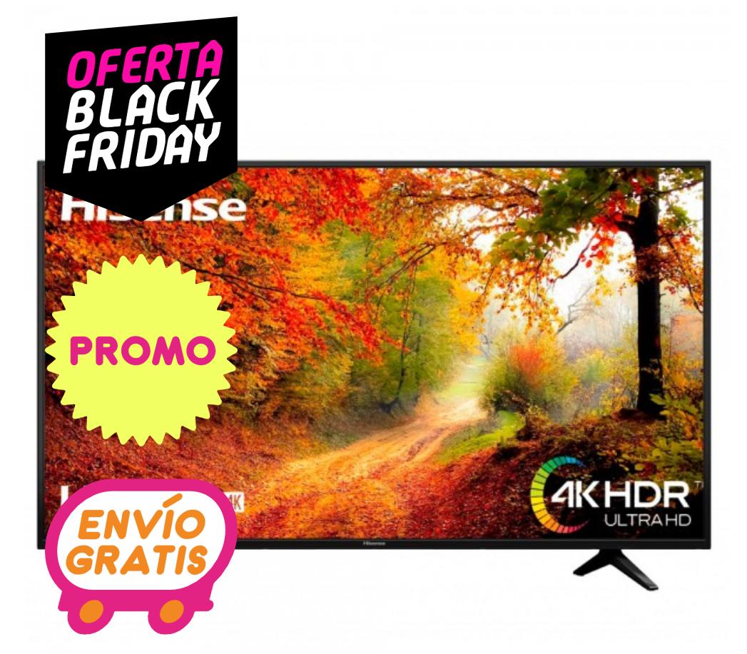 TV 127 CM (50 INCH) - HISENSE A6140 LED 127 CM (50 INCH) 4K ULTRA HD SMART TV WIFI NEGRO