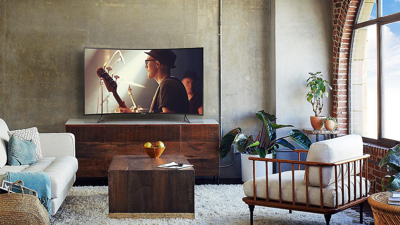 "Televisor Curvo 138cm 55"" 4K UHD Smart TV Serie NU7305"