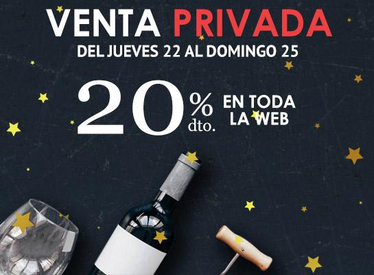 20% de descuento en vinos