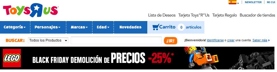 "Lego a precios competitivos en 25% dto. directo en LEGO Toys""R"" us, selección de productos"