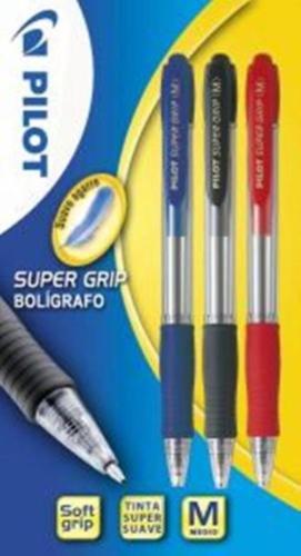 Pilot Supergrip - Blíster de bolígrafos, 3 unidades