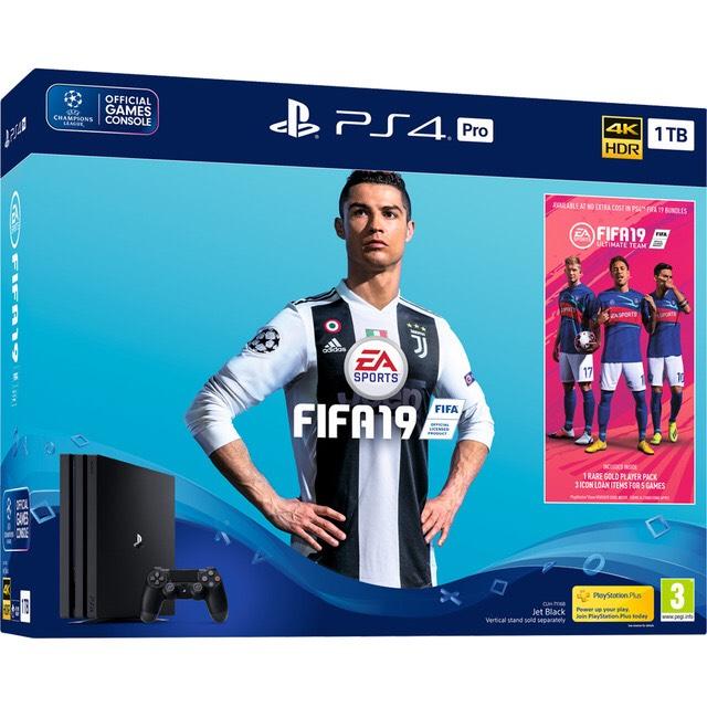 Consola PS4 Pro + FIFA 19 + Spider-Man