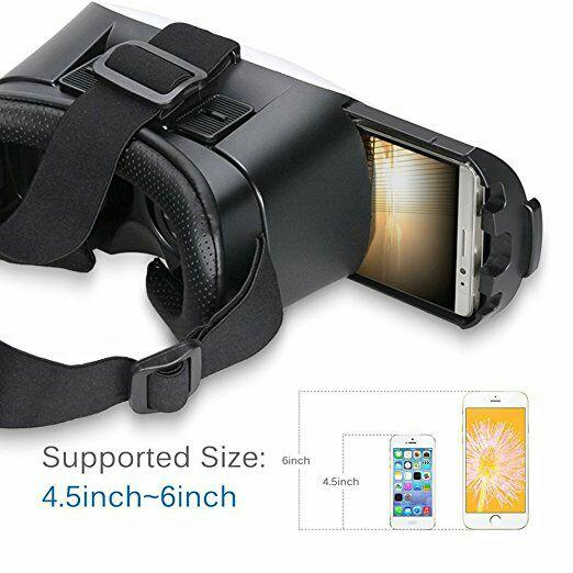 SALCAR 3D VR Auriculares Gafas de Realidad Virtual Ajustable para Película 3D y Juego de Vídeo Compatible con Teléfonos Inteligentes, el iPhone 6 6S, Samsung S6 S7 etc, Blanco