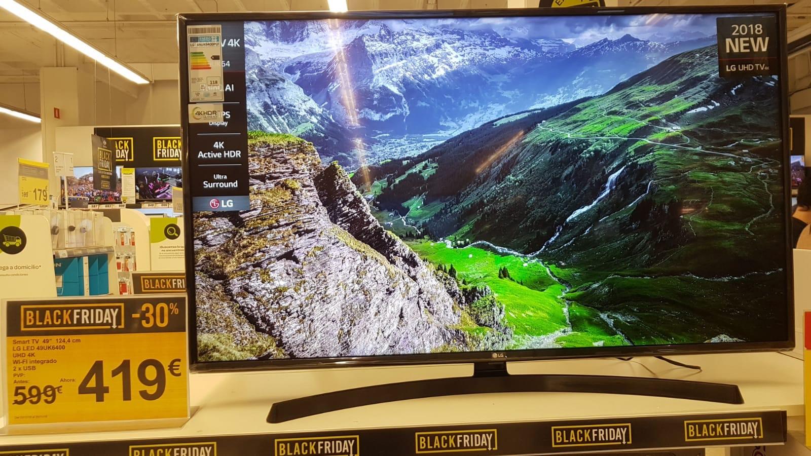 TV LED 124,46 cm (49'') LG 49UK6400PLF, UHD 4K, Smart TV