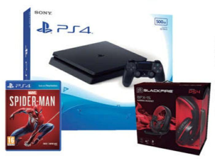 PS4 500gb+Spider-Man+Headset Blackfire 15