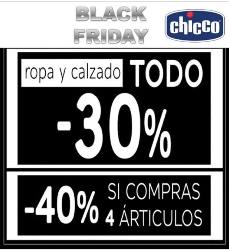 Tiendas CHICCO Hasta -40% de descuento en textil y calzado