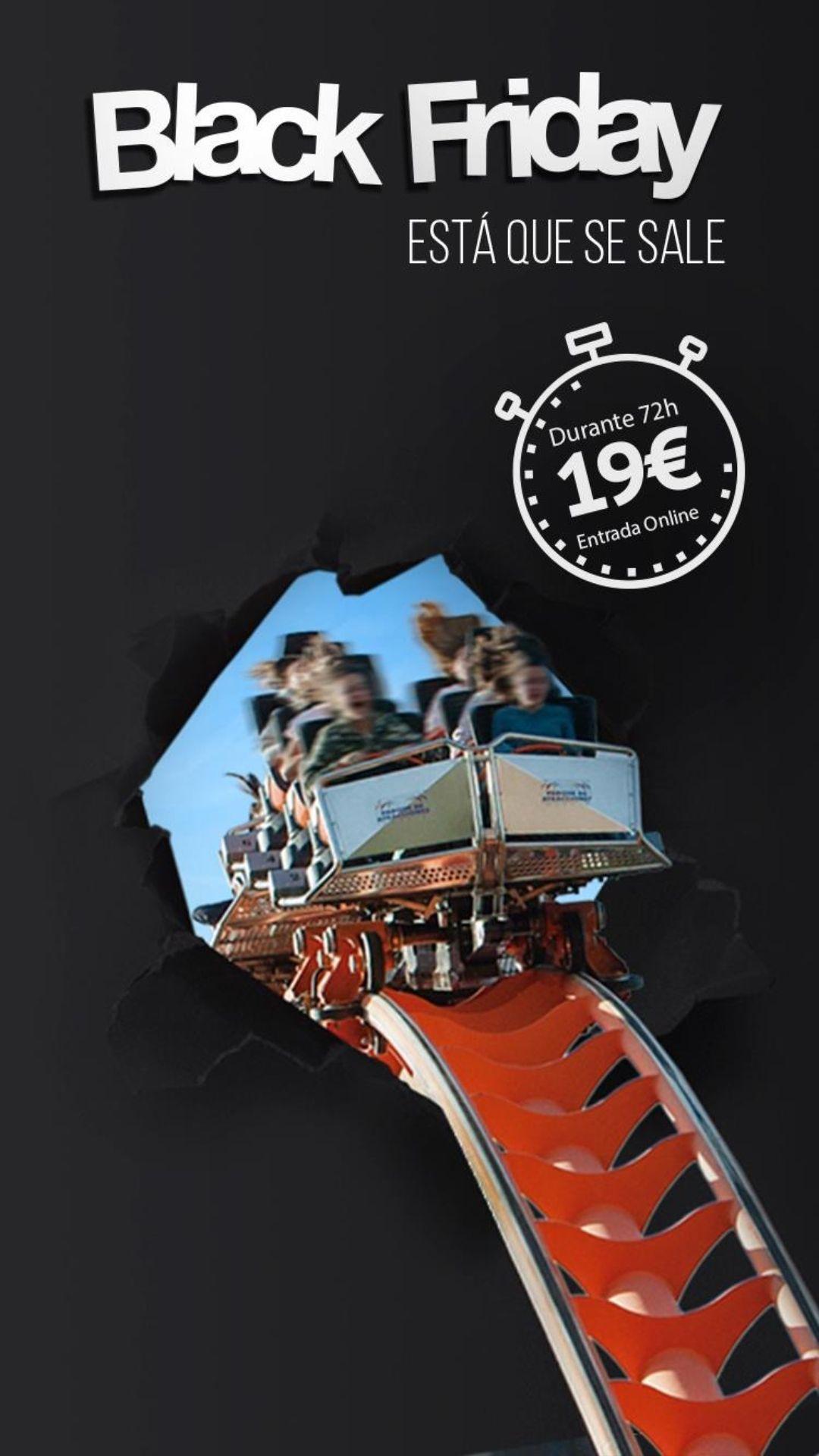 Parque de atracciones de Madrid 19€