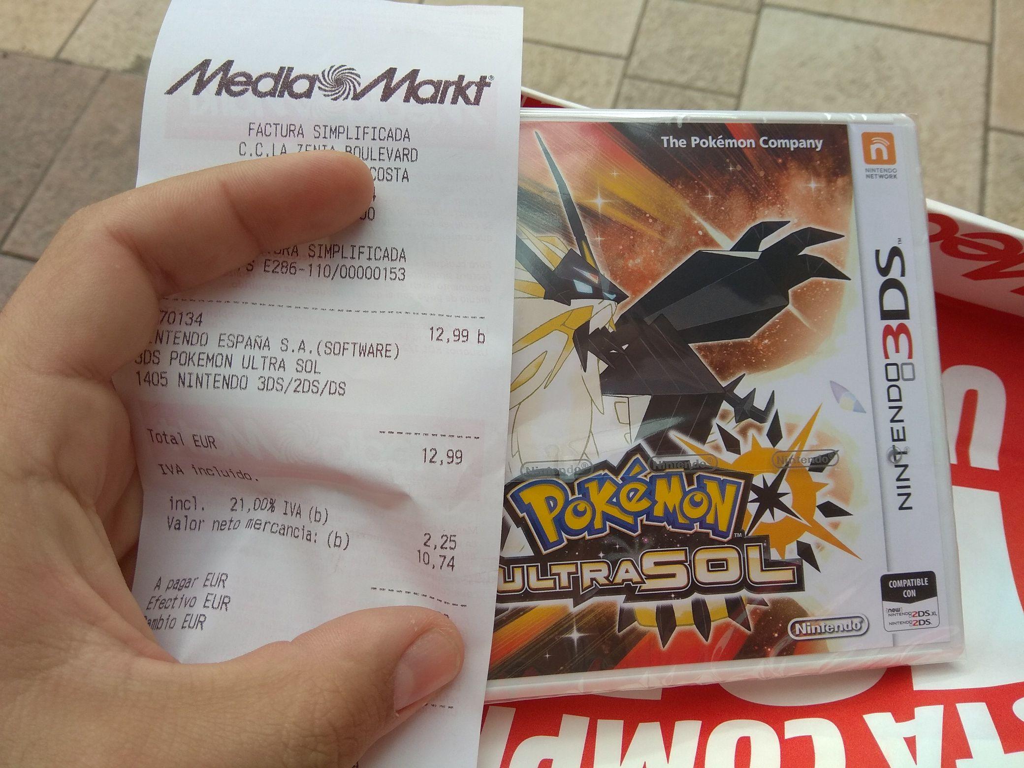 Pokemon ultrasol  a 12,99€