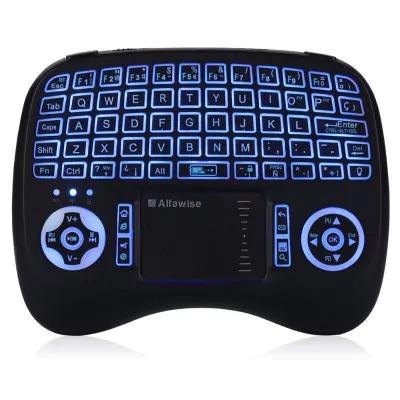 Mini Keyboard (versión española con ñ) Alfawise KP - 810 - 21T - RGB Mini 2.4G Wireless