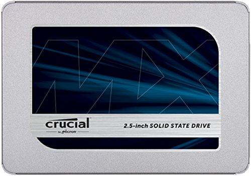 Disco Duro Sólido Crucial MX500 SSD de 500 GB (3D NAND, SATA, 2.5 Pulgadas)