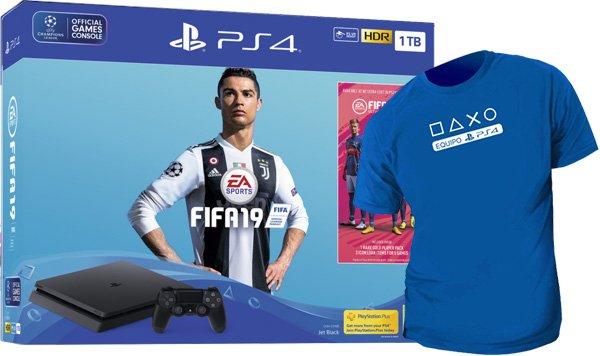 PS4 Consola Slim 1TB + FIFA 19 +Spiderman + PS Plus 14 Días