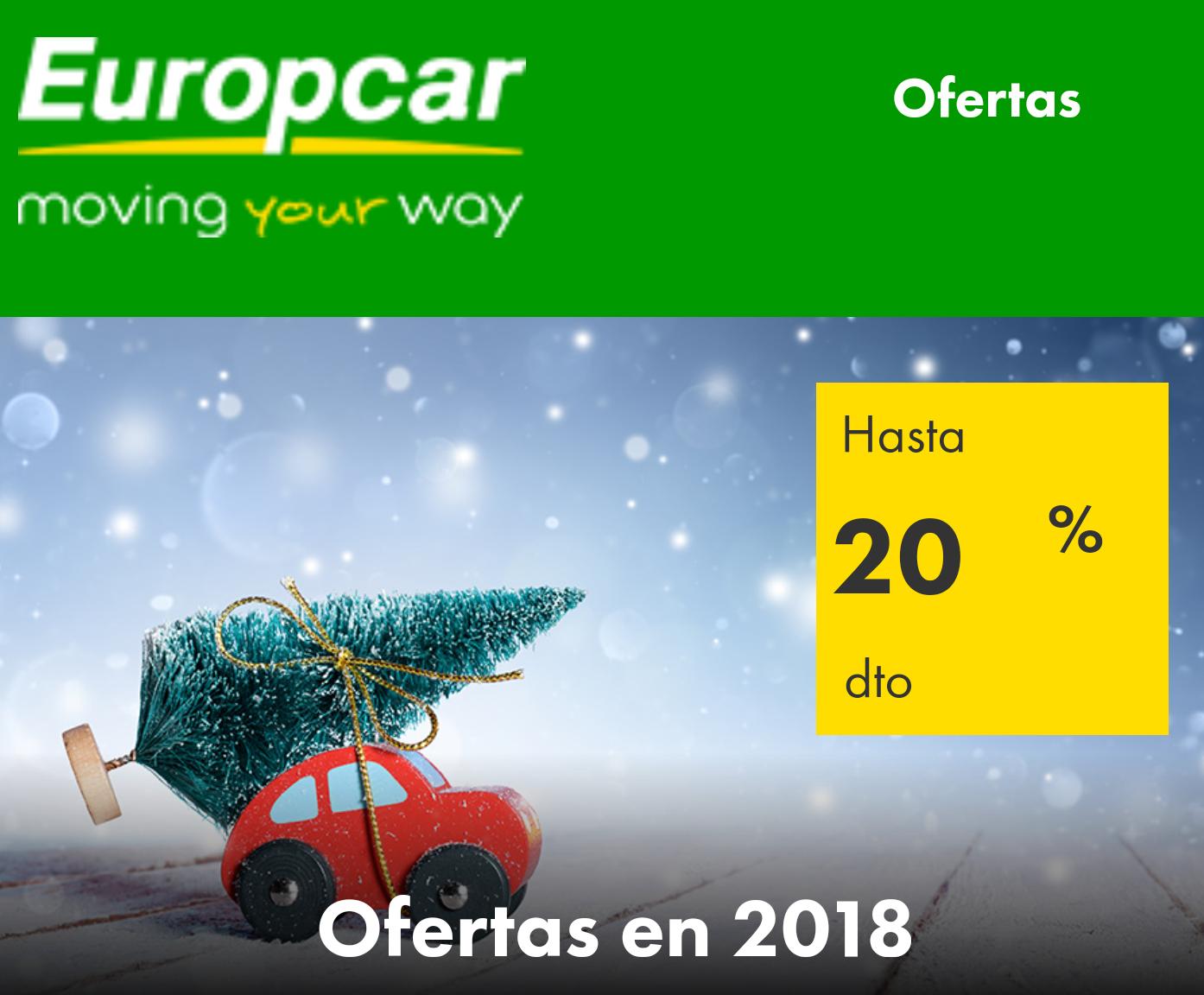 Europcar: 20% Dto. para reservas antes del 31-01. Recogidas 31-03.