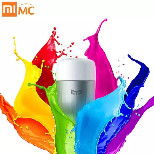 Bombilla Xiaomi yeelight RGBW multicolor compatible con Google Home y Alexa