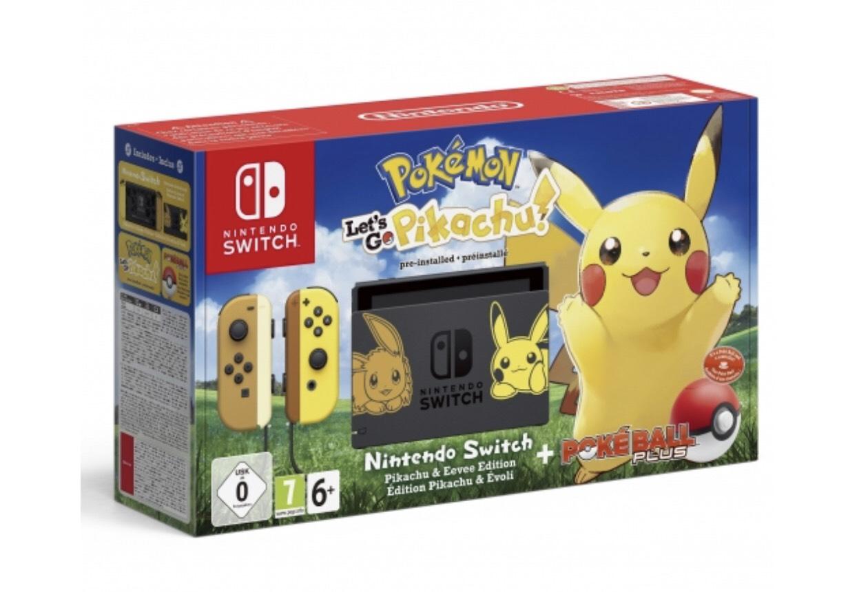 Solo socios fnac + seguro!! Nintendo Switch Pokémon Let's Go, Pikachu! + Pokéball Edición Limitada