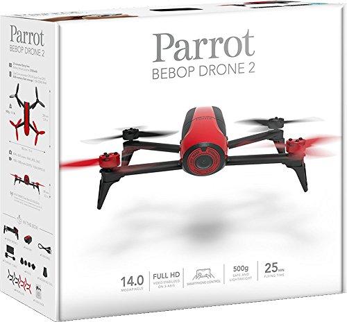 Parrot Bebop 2 sin Sky Controller (negro y rojo)