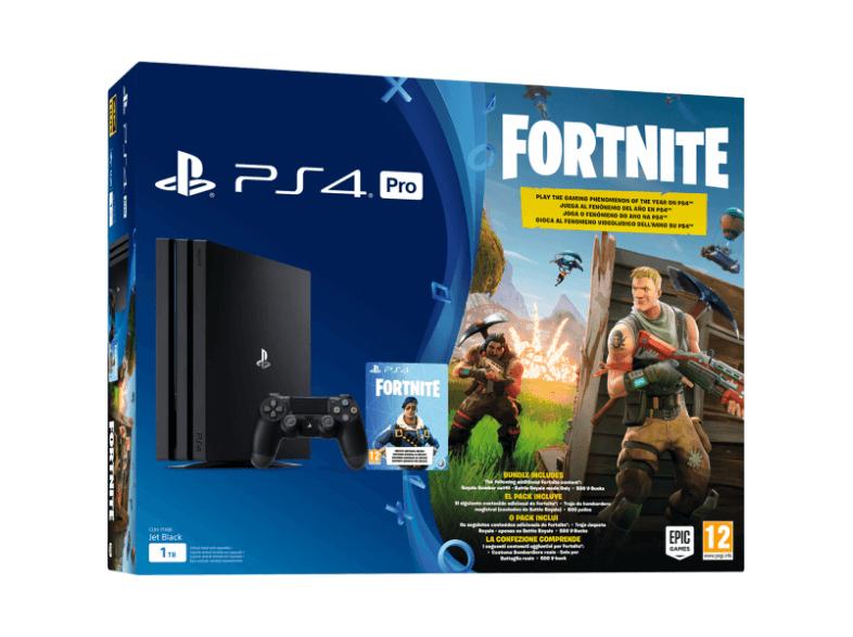 Consola - Sony - PS4 Pro Negra, 1TB, DualShock + Voucher Fortnite
