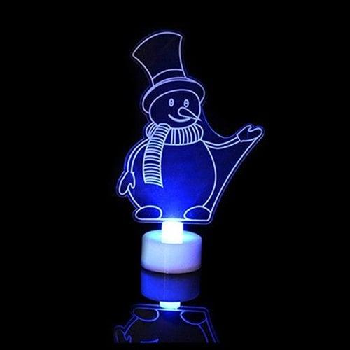Lámpara Muñeco de nieve con luz nocturna