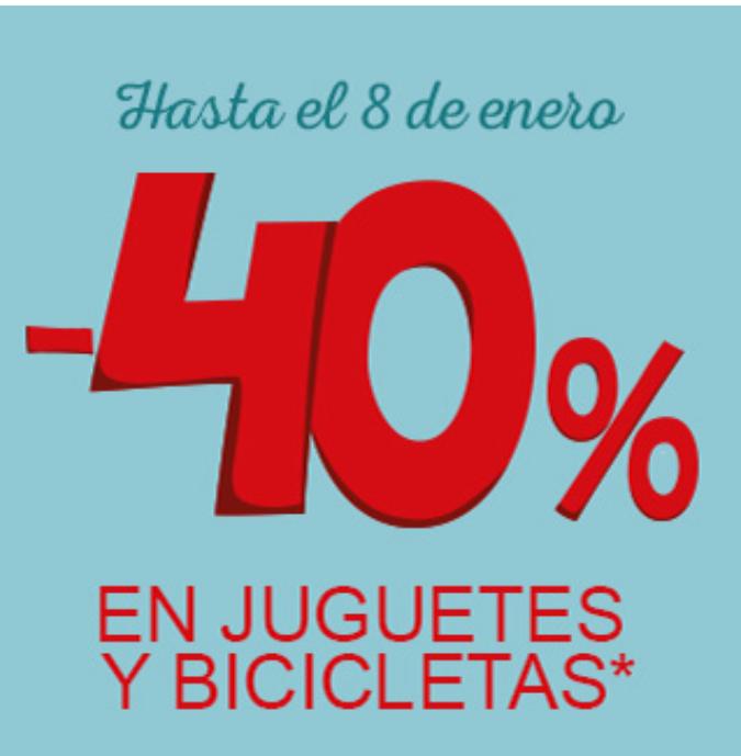 Carrefour: 40% Dto. en juguetes y bicicletas (Online y tiendas)
