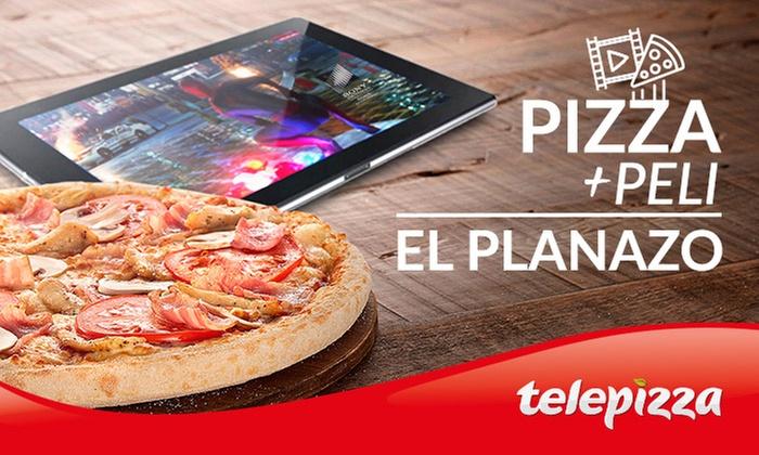 Telepizza mediana + peli para finalizar el Black Friday por todo lo alto